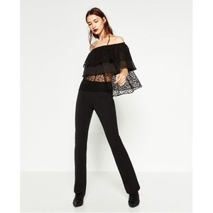 c228f7e0389d08 Zara Tops - ZARA BASIC Star Print Off The Shoulder Top